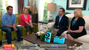 Cristina Ferrare and Mark Steines are joined by Noah St. John and Susan Sherayko on Home and Family airing on Hallmark Channel