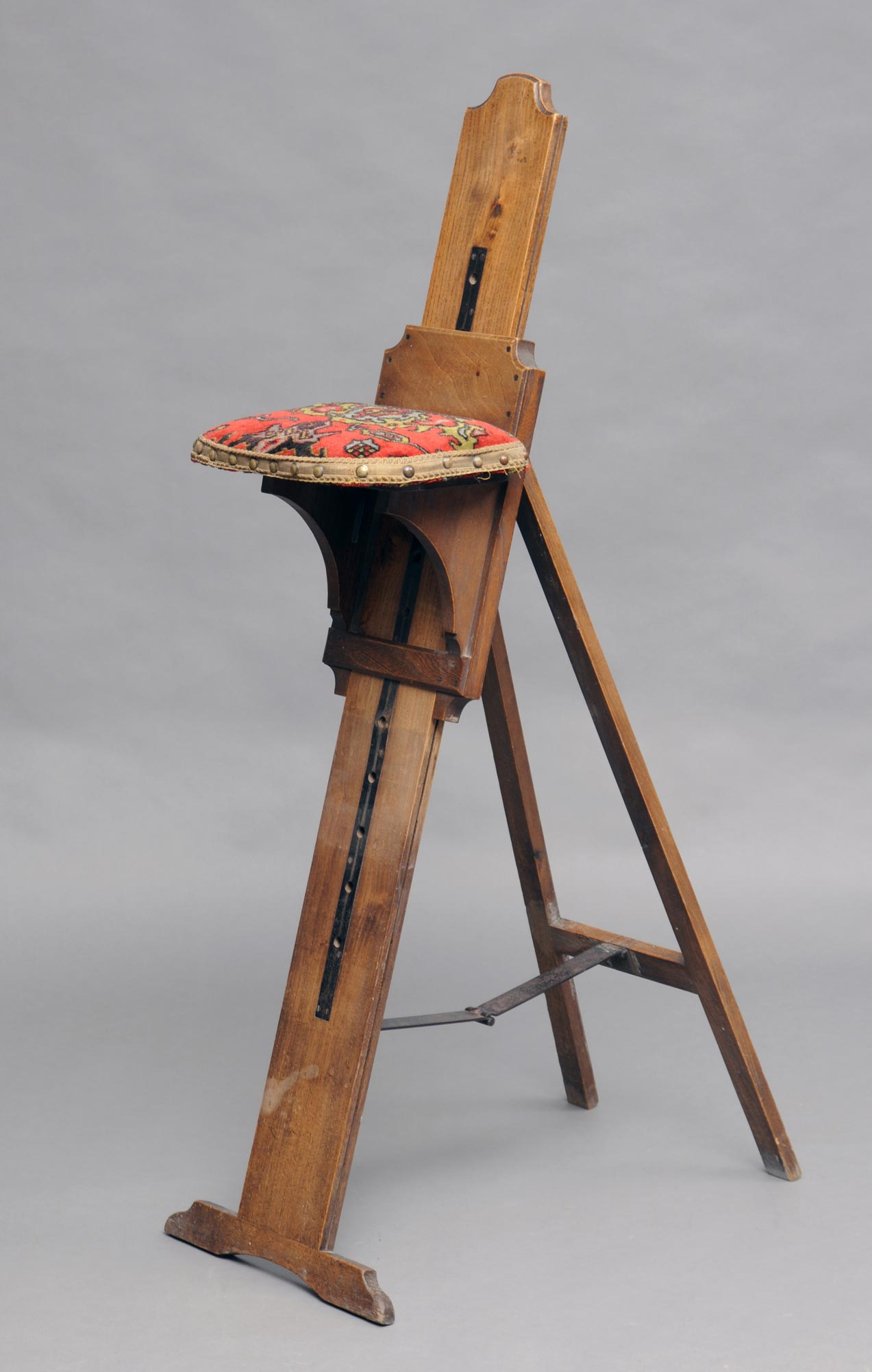 adjustable height chairs iconic leather chair victorian traveling combination artist's easel and seat
