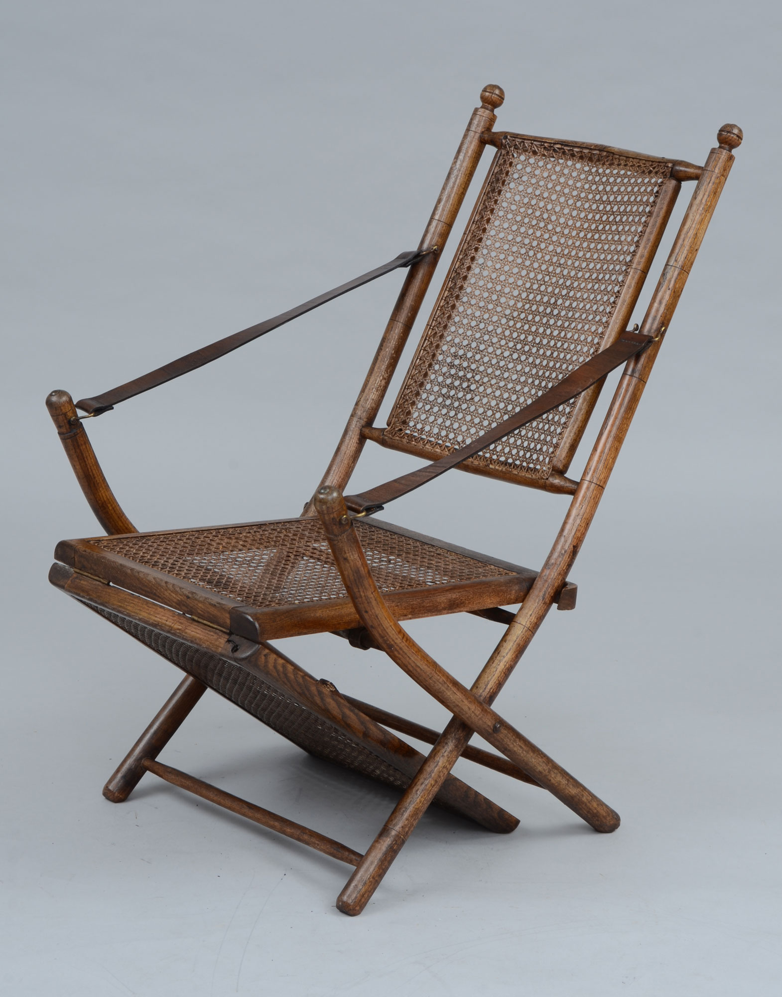 Antique Deck Chairs  Folding Oak Caned Antique Deck Chair