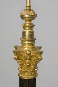 French Antique Bronze Floor Lamp