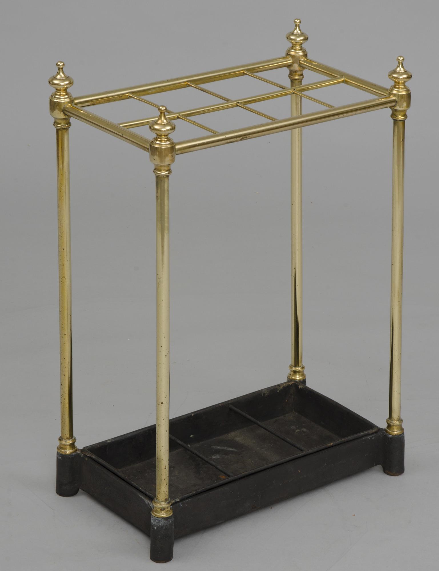 English Antique Brass Umbrella Stand Circa 1860