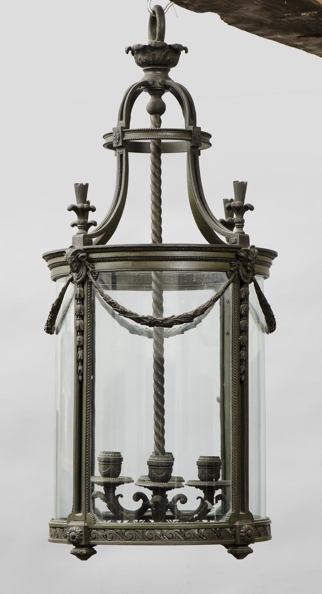 French Round Antique Bronze Lantern Antique Bronze Lanterns