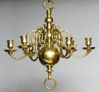 Product  Small Dutch Brass Chandelier