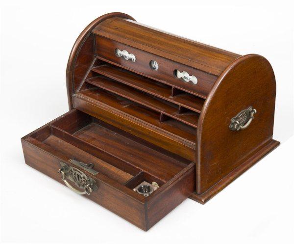Oak Stationery Box Circa 1900