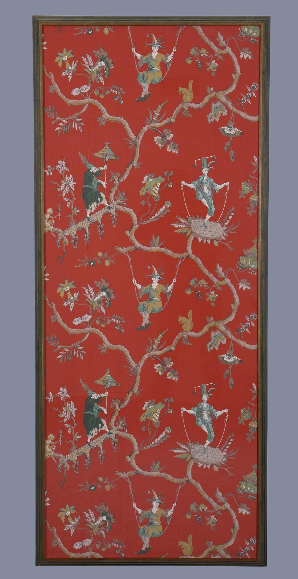 Pair Of French Chinoiserie Wallpaper Panels Circa 1910