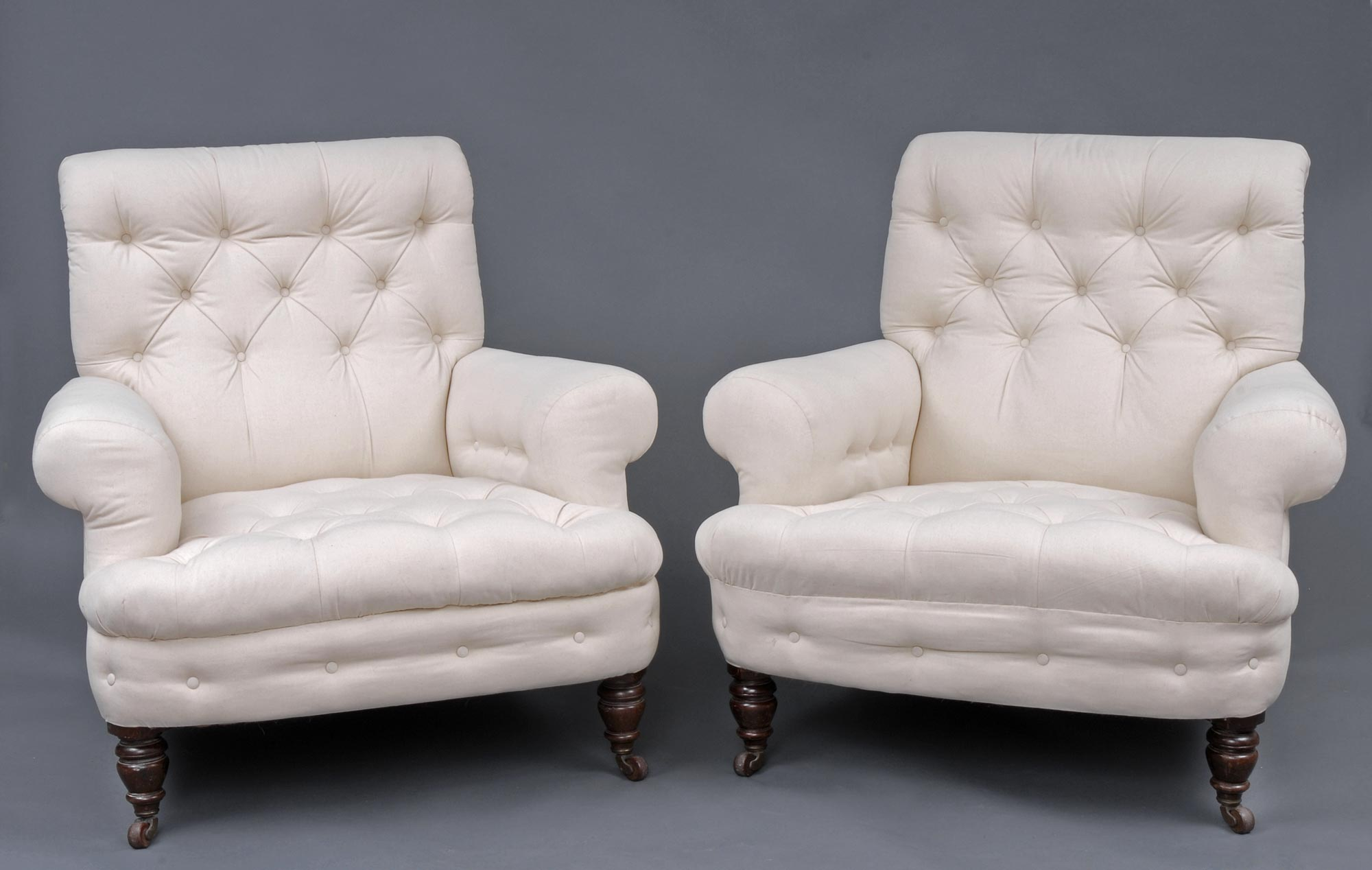 Vintage Club Chairs Product Pair Victorian Club Chairs
