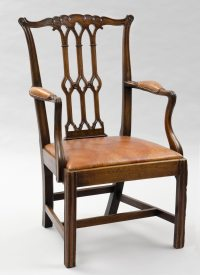 English Antique Armchairs   Chippendale Style Gothic Taste ...