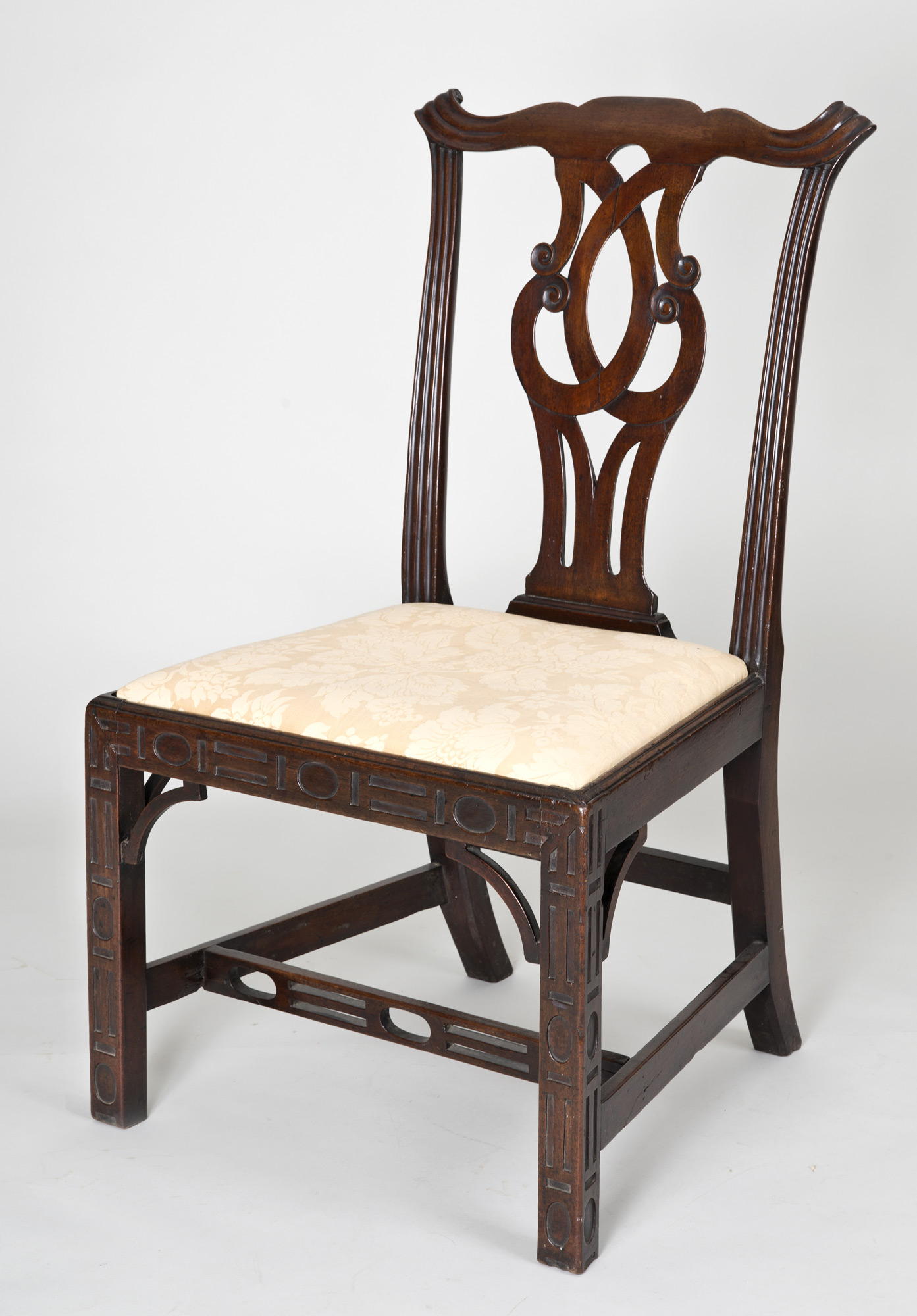 chinese chippendale chairs baby tub chair antique side georgian