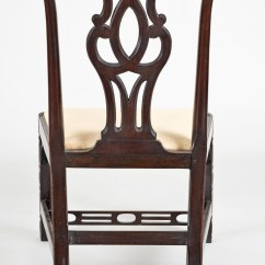 Chinese Chippendale Chairs Best Geneva Glider Instructions Antique Side Georgian Chair