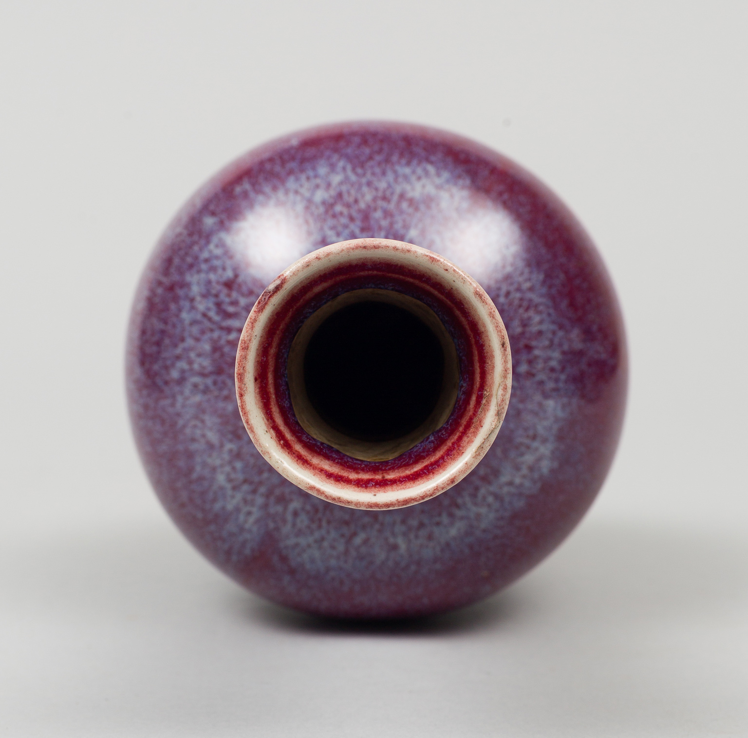 Chinese Small Puce Flambe Vase 18th Century
