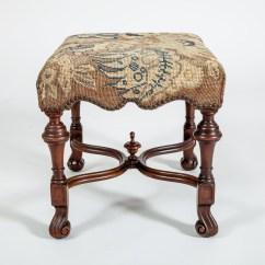 William And Mary Chair Pottery Barn Oversized Style Walnut Antique Stool Wooden