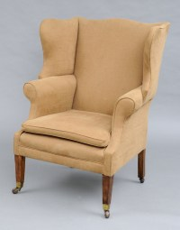 Antique Georgian Wing Chairs | George III Mahogany & Ash ...