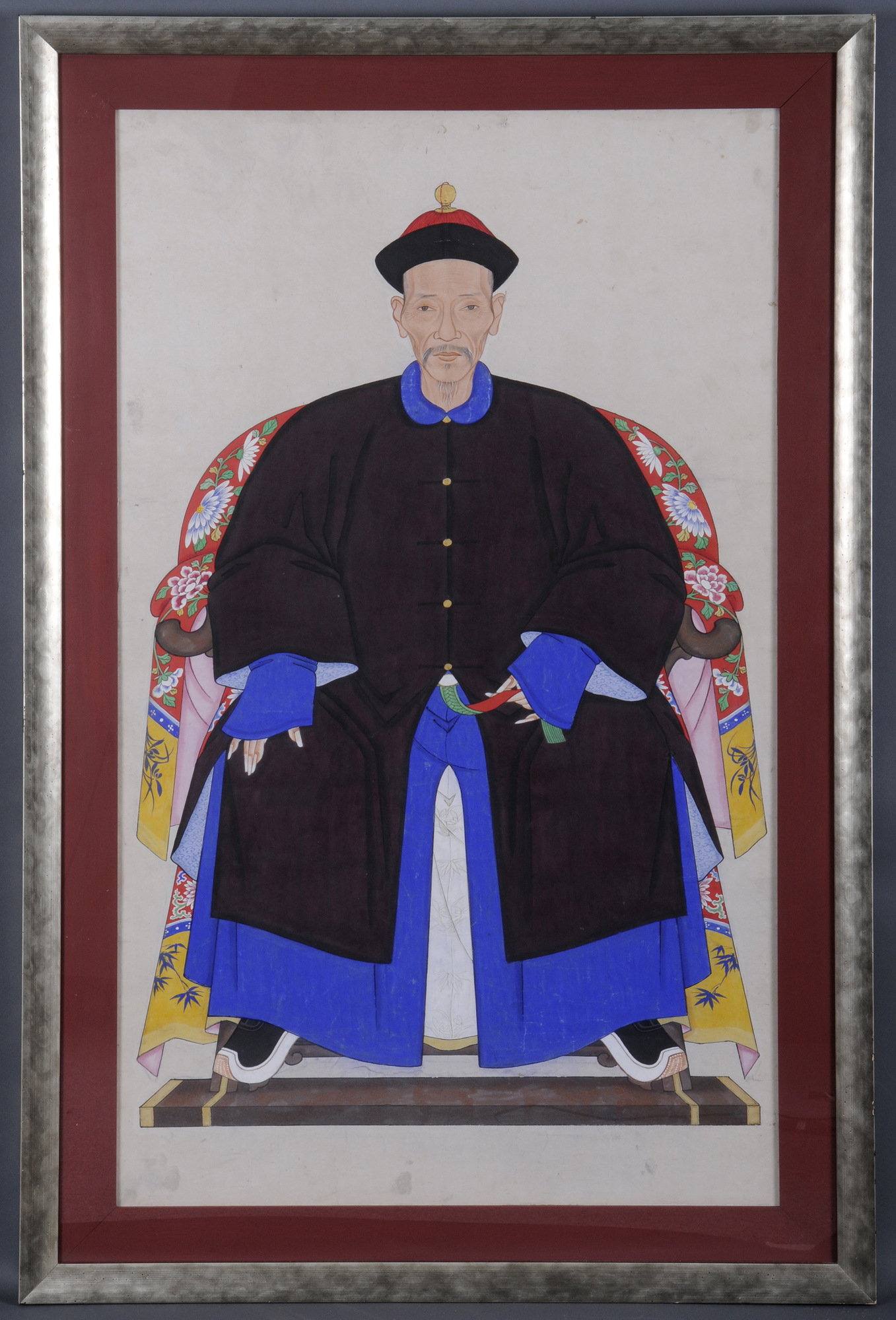Chinese Ancestor Portrait of a Gentleman Circa 1850