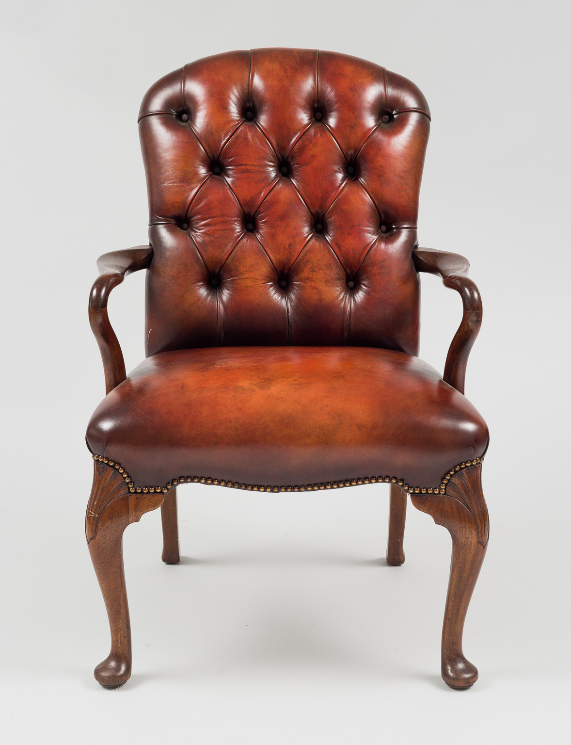 antique rocking chair leather seat swivel office no arms english mahogany shepherd's crook armchair  antique armchairs