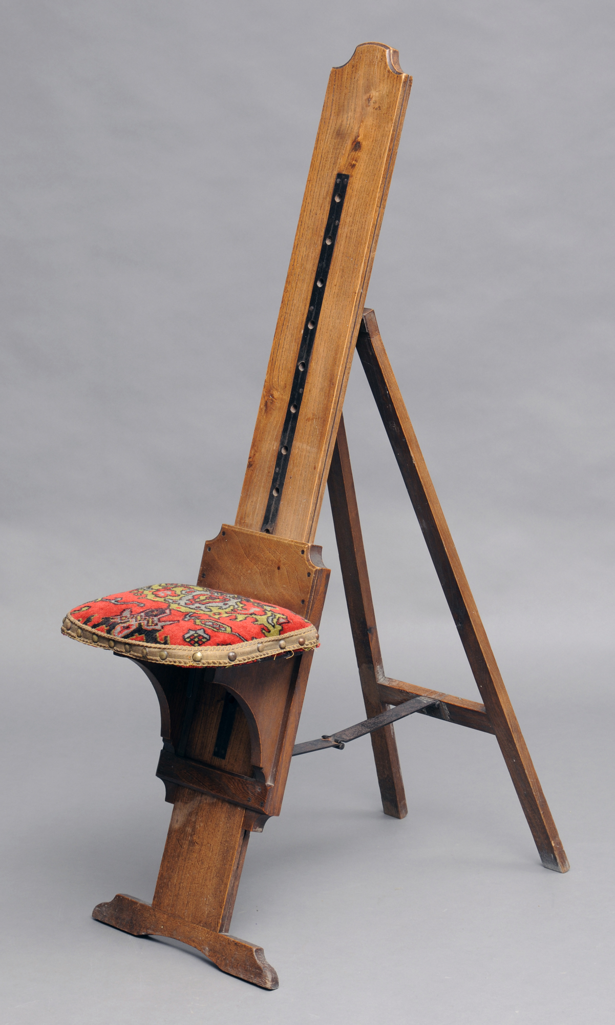 victorian occasional chair white rocking traveling combination artist's easel and seat