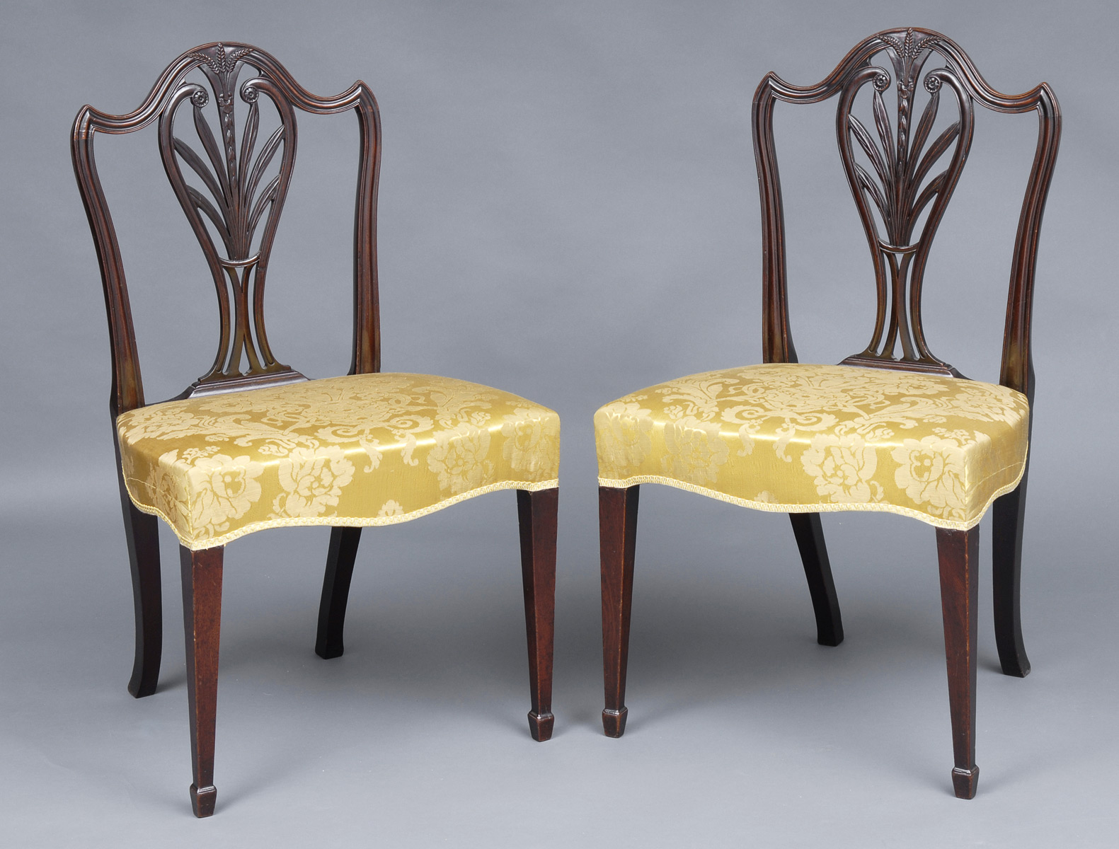 Hepplewhite Chair Antique Side Chairs Pair Hepplewhite Antique Mahogany