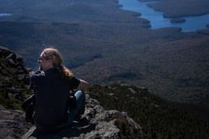 Man overlooking Lake Placid.