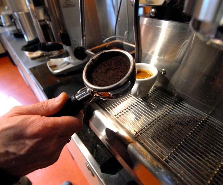 I took this photo at Barrington Coffee Roasters.