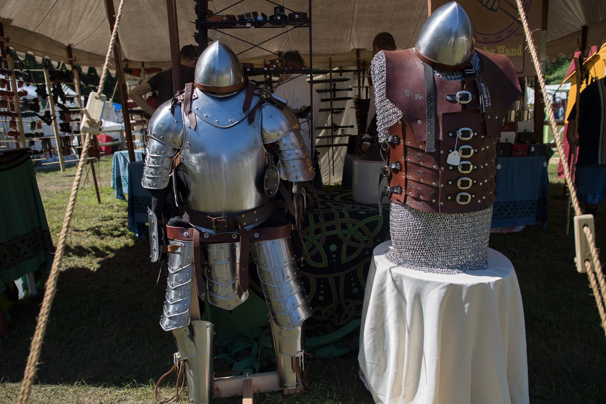 A vendor's tent at a Renaissance Festival