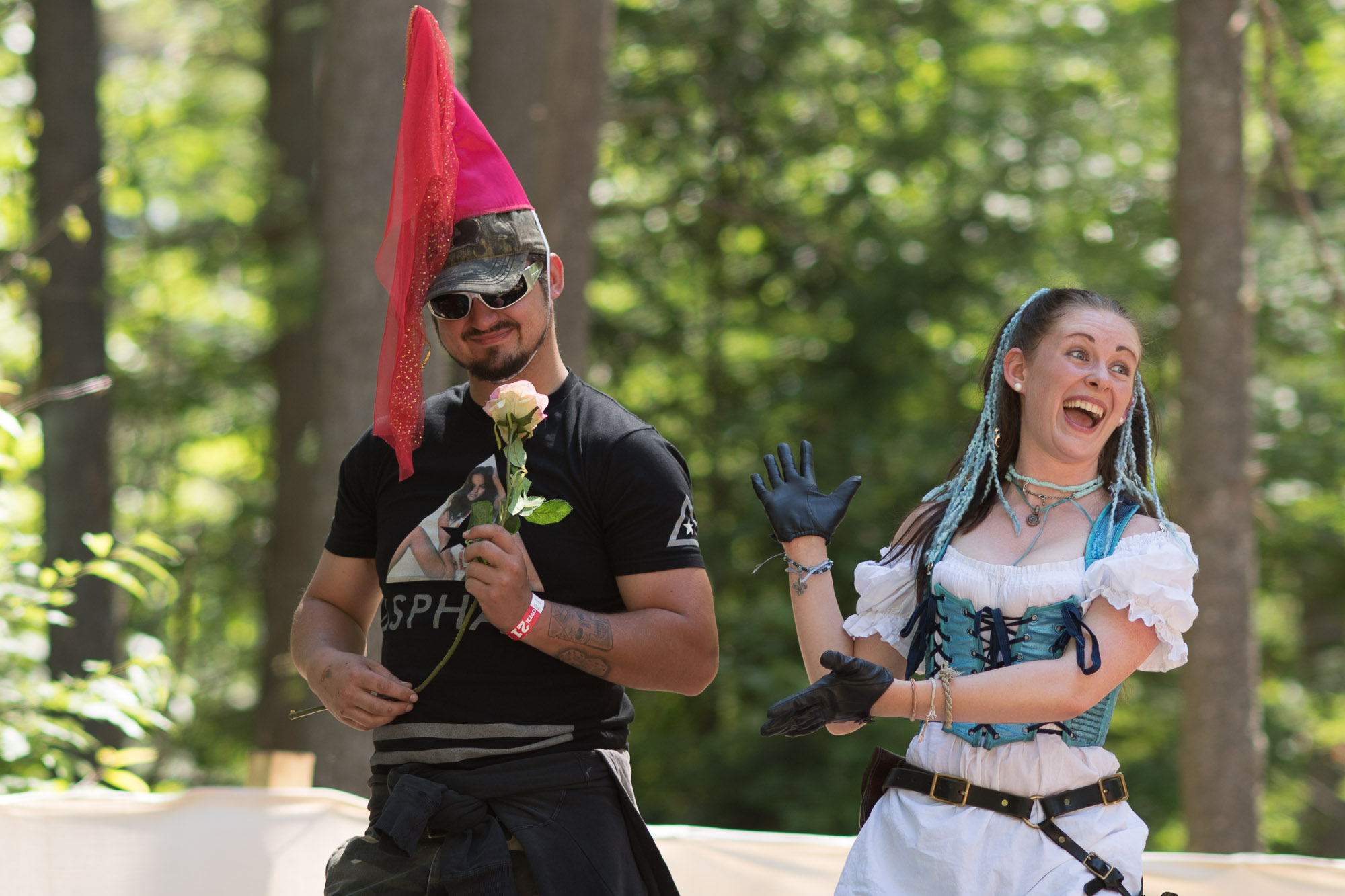 Stage performance during a Renaissance Festival.