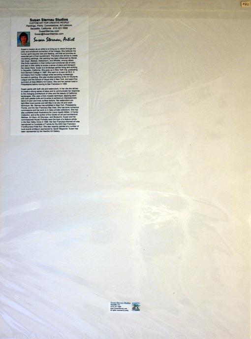 Castro Theater, print back, by Susan Sternau