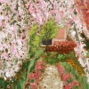 Cherry Blossom Path, detail 1, by Susan Sternau