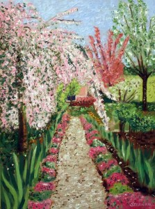 Cherry Blossom Path, single product, by Susan Sternau