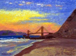 Golden Gate Sunrise by Susan Sternau