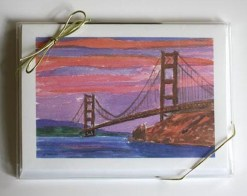 Golden Gate Sunset Card Box, front