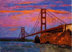 Golden Gate Sunset by Susan Sternau