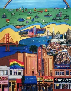 It's an LGBT World giclee print by Susan Sternau