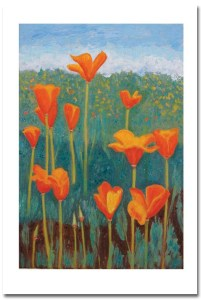 Poppies Card with shadow by Susan Sternau