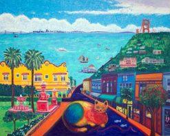 Rainbow Cat Sausalito by Susan Sternau