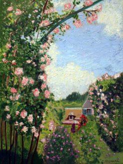 Roses in the Sky Oil, by Susan Sternau