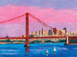 San Francisco with Golden Gate Bridge by Susan Sternau