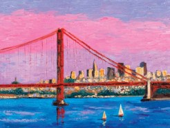San Francisco with Golden Gate Bridge by Susan Sternau