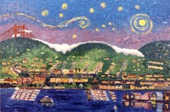 Sausalito Night, giclee print by Susan Sternau
