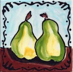 Two Pears Tile, single product, Susan Sternau