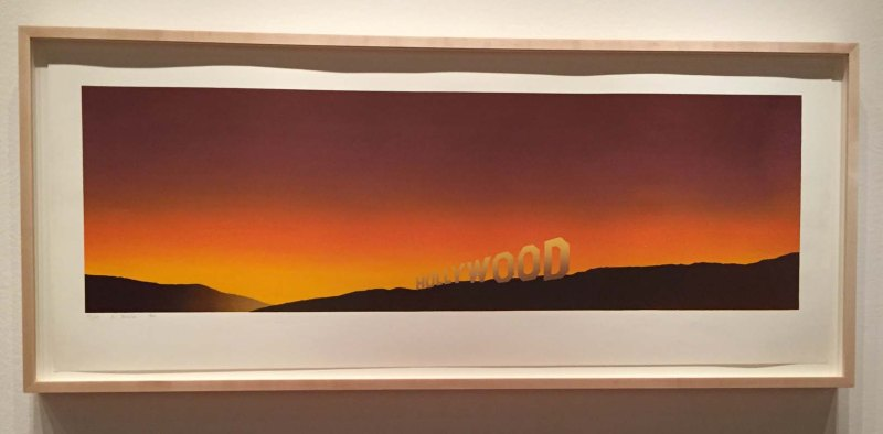 Hollywood sign by Ed Ruscha