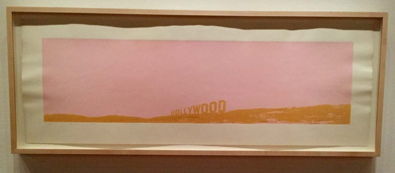 Hollywood sign print by Ed Ruscha