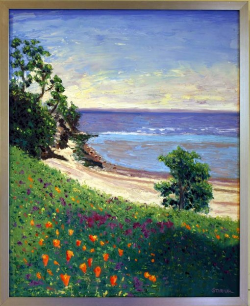 wildflowers-at-china-camp-oil-by-susan-sternau-framed