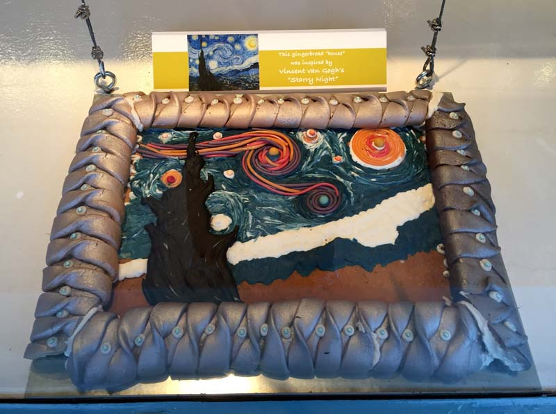 Gingerbread Starry Night, Sausalito Picture Framing