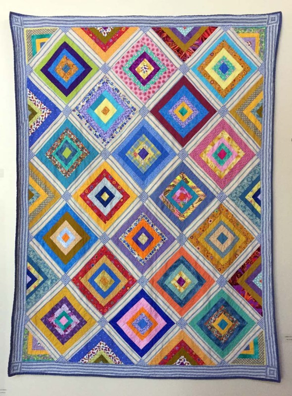 Summer Squares, Quilt by Pam Mccosker