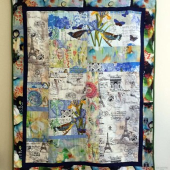 We Will Always Have Paris, Quilt by Leslie Riehl