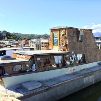Houseboat with Shells, Waldo Point, floating art colony