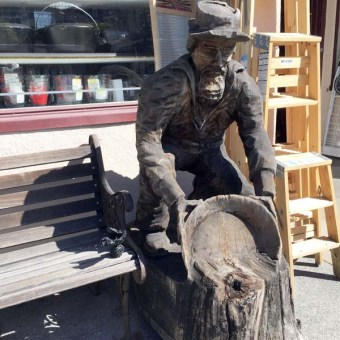 Cool carvings, Miner at Waterstreet by Barney West
