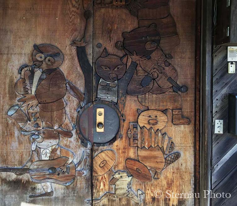 Cool carvings, The Record Plant's Carved Doors