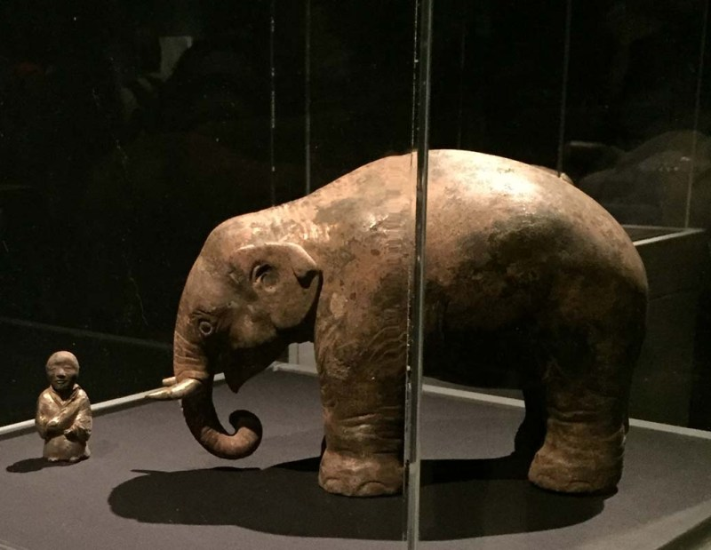 Elephant and Trainer, animals of ancient chinese art