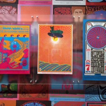 Three Posters with Moby Grape, Summer of Love Exhibit