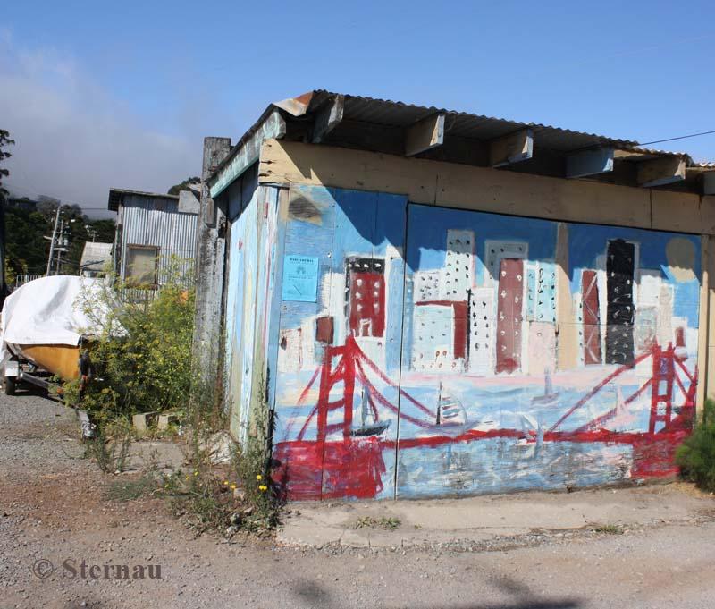 VanBo Art on North Bay Boat Works Building